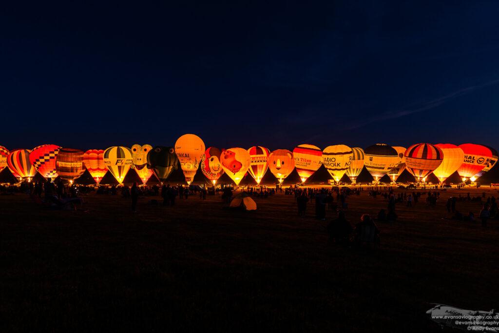 Hot Air Balloons at the Midland Air Festival